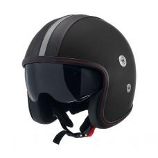 Casca open face carbon CMS Vintage SV Black Mat Black