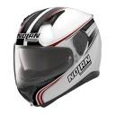 Casca moto integrala Nolan N87 Rapid N Com Flat Metal White