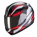 Casca moto integrala Scorpion Exo 390 Boost negru/alb/rosu