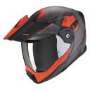 Casca moto flip-up Scorpion Exo ADX-1 Tucson gri rosu