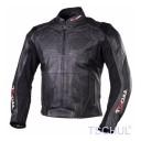 Geaca moto piele Tschul Racing all black