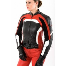 Geaca moto de dama Tschul Sporty Red